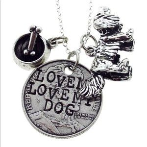 Alisa Michelle Love me Love My Dog necklace